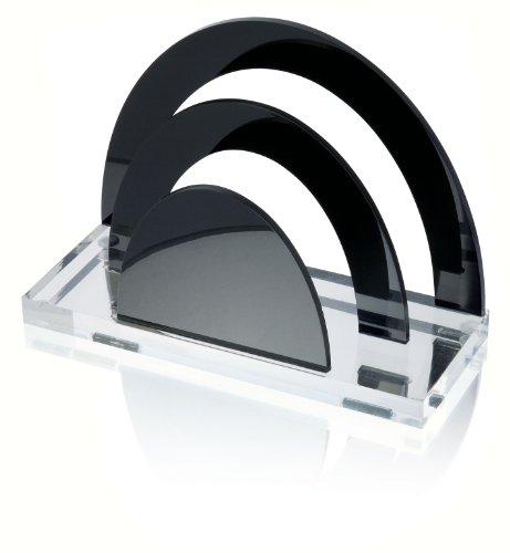 Wedo 603001 Acryl Briefständer (Acryl Exklusiv, 2 Fächer) glasklar/schwarz