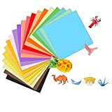 ZHjuju Uadrado Color Papel Plegable, 200 Hojas Papel de Origami15 x 15 cm 20 Colores,Papiroflexia de Colores para Niños Juguetes Decoración de Fiesta,para Proyectos de Artes y Oficios.