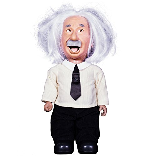 Professor Einstein Robot Talks, Walks, Connects to WiFi, uses Voice Commands. Play Brain Games & Learn Science from Albert Einstein Character with Realistic Facial Expressions.