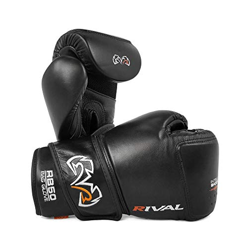 Rival RB50 Intelli-Shock Compact Bag Gloves Black Pads Mitts Boxen Training, Schwarz, m