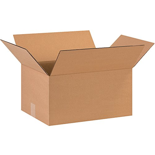 Aviditi 16128 Corrugated Cardboard Box 16' L x 12' W x 8' H, Kraft, for Shipping, Packing and Moving (Pack of 25)