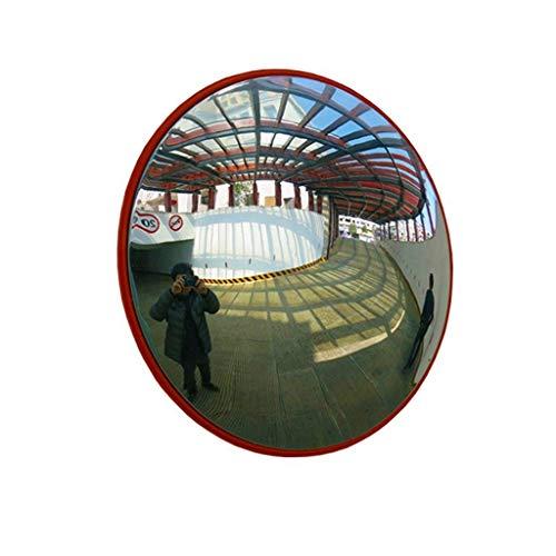 Verkehrsgekrümmter Sicherheitsspiegel, Verstellbarer, konvexer Verkehrsspiegel - Sichtfreie Garage und Einfahrt Park Assitant Red Convex Mirror,60cm