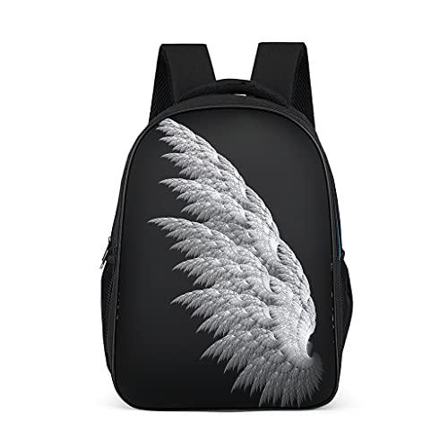 Mochila con diseño de alas de ángel, práctica mochila infantil para mujer, vacaciones, gris brillante., talla única