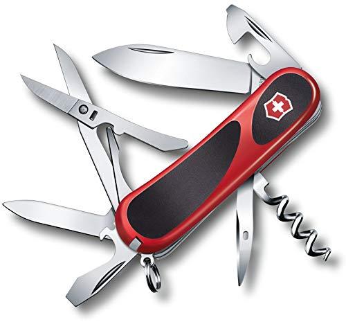Victorinox Evolution Grip 14 Taschenmesser, 14 Funktionen, Ergonomisch, Klinge, Schere, rot