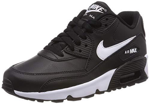 Nike Mädchen Air Max 90 Ltr (Gs) Laufschuhe, Schwarz (Black/White/Anthracite 025), 35.5 EU