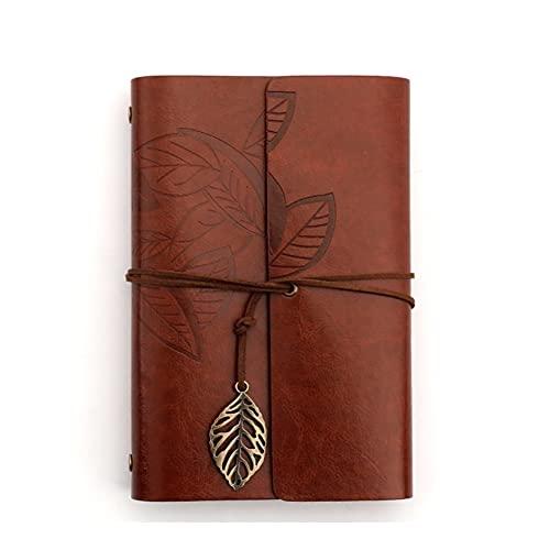 DDGQQ Diario de Cuero, Cuaderno de Viaje Recargable, Diario de Cuero para Hombres y Mujeres, Libro de Dibujo de Arte, niñas y niños Adolescentes (Color : C)