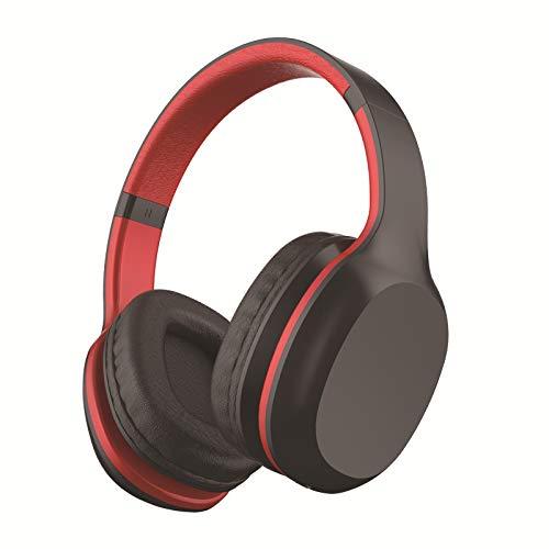 LIMTT 5.0 Bluetooth-Kopfhörer, Kabelloses Over-Ear-Headset Mit Hi-Fi-Tiefenbass, Weiche Protein-Ohrpolster Mit Steckbarer TF-Kartenfunktion Für Die Reise Mit Dem Handy 2-Teilig schwarz