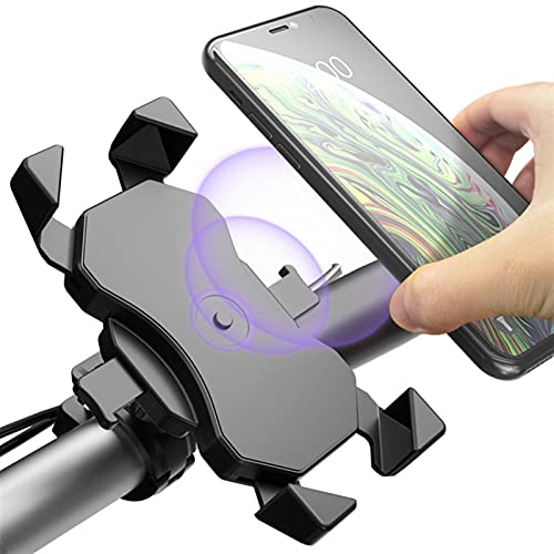 WJY Support Téléphone Vélo, 360° Rotatif Support Téléphone de Moto Portable Universe, Support Smartphone Universel Sacoche Vél, Unité GPS de Cyclisme, pour Téléphones de 4,0 à 6,5 Pouces