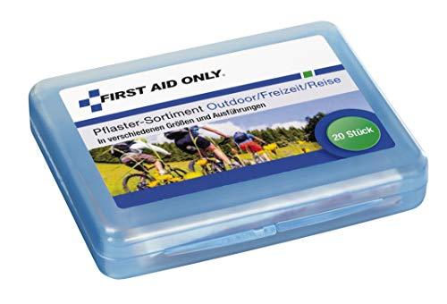 First Aid Only Pflaster-Sortiment, 20 Stück, für Outdoor/Freizeit/Reise, verschiedene Größen und Ausführungen, P-10024