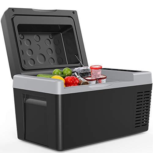 F40C4TMP Portable Freezer Car Refrigerator 24 Quart 12V Car Freezer Travel Fridge 23L (-7.6℉~50℉) Compressor Refrigerator for Truck, RV, Boat and Camping,12/24V DC and 110-240 AC
