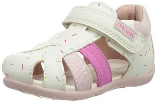 Geox B151QD05410 bébé fille, White/Pink, 19 EU
