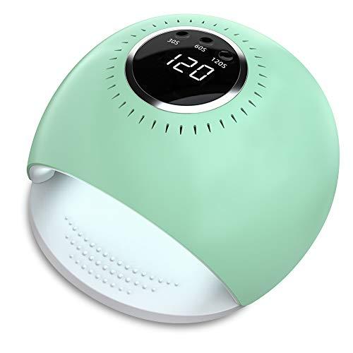 UV Nagellampe - 84W LED UV Nageltrockner mit 5 Sekunden Schnell Trocknend & Sensor für Gel-Nagellack, UV Lampe für Nagel (Grün)