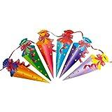 Oblique Unique® Zuckertüten Girlande Hänge Deko für Schuleinführung Einschulung Schulanfang Dekoration Banner Schule Jungs Mädchen bunt - 2