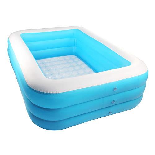 Moligin Inflable Piscina Rectangular Espesado Piscina para Niños del Bebé De Jardín Al Aire Libre del Patio Trasero del Verano Fiesta del Agua Azul 1.5m