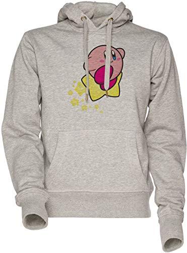 Vendax Cavalcata sopra Kirby Unisex Uomo Donna Felpa con Cappuccio Grigio Men's Women's Hoodie Sweatshirt Grey