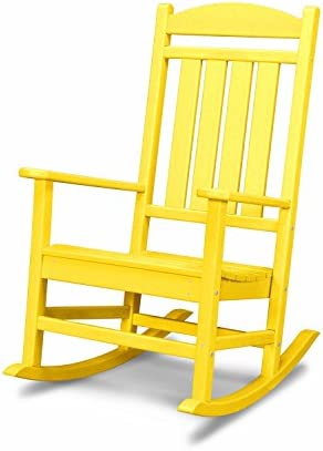 Best POLYWOOD R100LE Presidential Outdoor Rocking Chair, Lemon