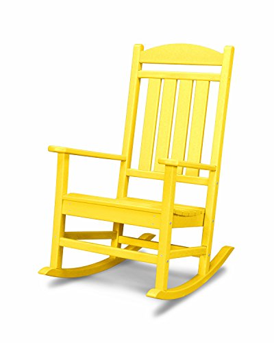 POLYWOOD R100LE Presidential Outdoor Rocking Chair, Lemon