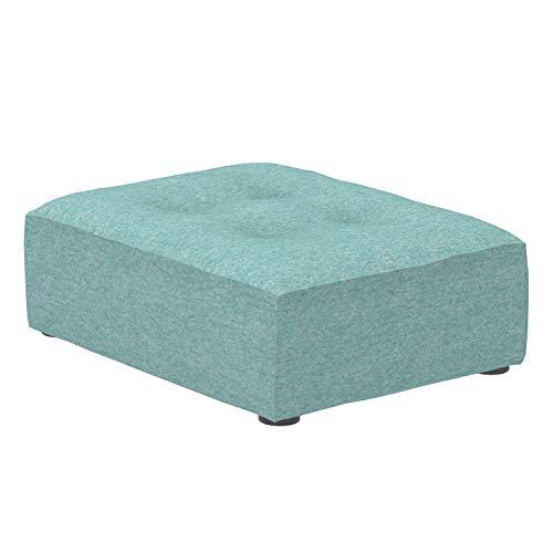 Amazon Marke -Alkove Elvas - Modulares Sofa, Mittleres Fußhockermodul, 70x93cm, Türkis
