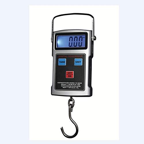 LCD Digital Hook Scale 50Kg 10G Balanzas Electrónicas para Colgar con Cinta Métrica Equipaje De Viaje Teclado Anti Agua Balance De Pesaje