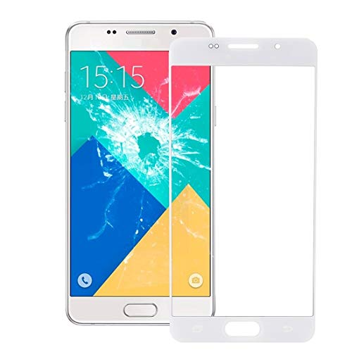 Cell Phone Replacement Front Screen Outer Glass Lens Perfect Match of Original Accessories, Suitable for Galaxy A7 (2016) / A710 (Color : White)