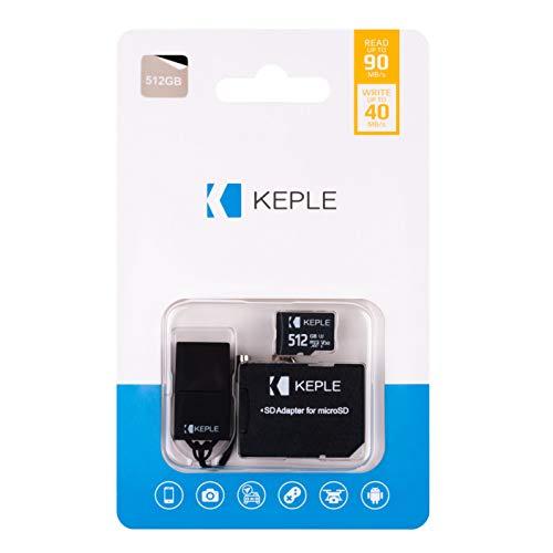 512GB MicroSD Speicherkarte Micro SD Klasse 10 Kompatibel mit Asus Zenfone 5, 5z, 6 ZS630KL, 5 Lite, 4 Pro/Max Pro M1, Max Pro, Max, Max Plus (M2), Live (L2), V V520KL, AR ZS571KL Telefon | 512 GB