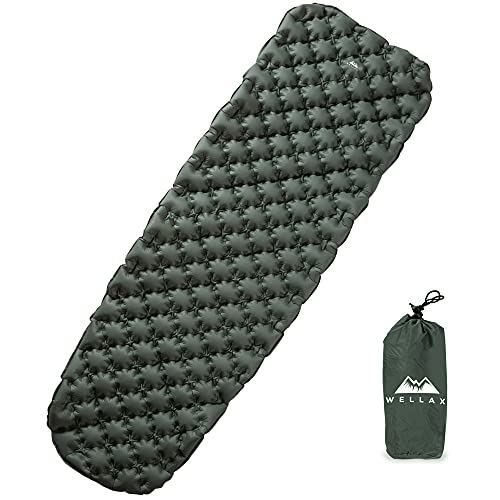 WellaX Ultralight Air Sleeping Pad - Inflatable...