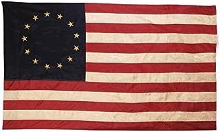 Primitive American 13 Star Betsy Ross Flag 3 ft x 5 ft Nylon Antique Look Flag