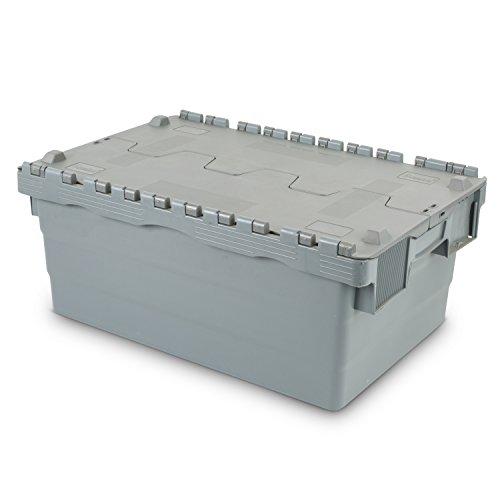 Mehrwegbehälter 600x400x250, mit Klappdeckel, 45 Liter