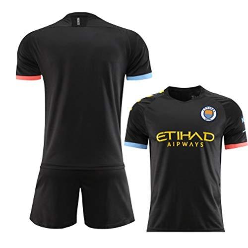 ZHPBHD Manchester City Jersey 19-20 Heim- und Auswärts Football Anzug Set No. 17 De Blauney (Color : E, Size : L)