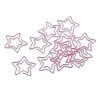 約12個 クリップ ペーパークリップ ブックマーク クリップ ゼムクリップ 文書装飾 全3種 - ピンク