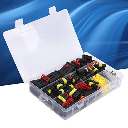 minifinker Conector Impermeable para automóvil, Juego de Conectores a Prueba de Agua ABS y Material de Silicona para Satisfacer Sus diversas Necesidades con Caja para Camiones para Motocicletas para