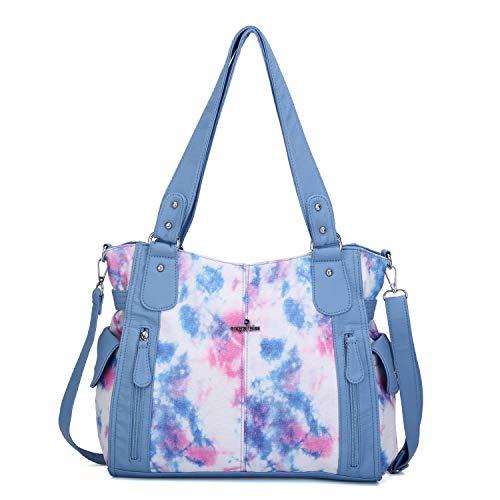 Handbags for Womens Top-Handle Hobo Purse Roomy Casual Shoulder Bag Fashion PU Tote Satchel Purse for Womens