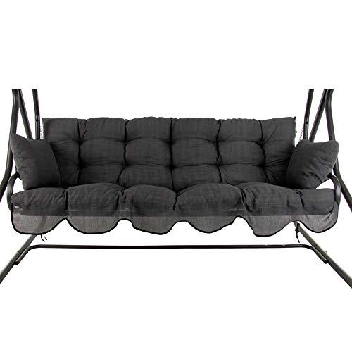 PATIO Auflagen Set Bora 170 cm für Hollywoodschaukel Polsterauflage Sitzkissen Rückenkissen Seitenkissen Gesteppt H024-07P