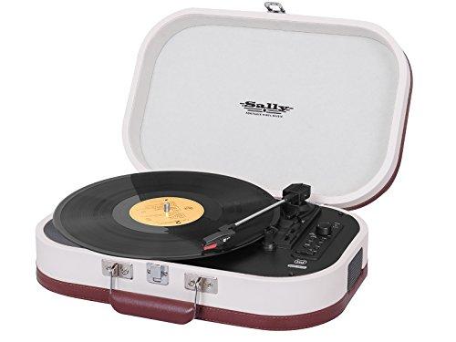 Trevi TT 1020 BT Giradischi Stereo Vintage Portatile con Bluetooth, Mp3, USB e Funzione Encoding, Beige
