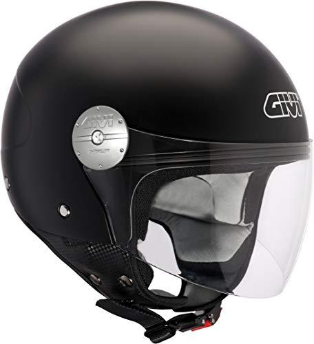 Givi HPS 10.7 Mini-Jet-Helm, Schwarz Matt, 56