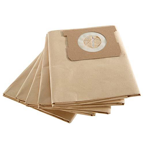 Arebos - 5 bolsas para aspiradora industrial | 1600 W | papel especial | 2 capas | 40 x 80 cm