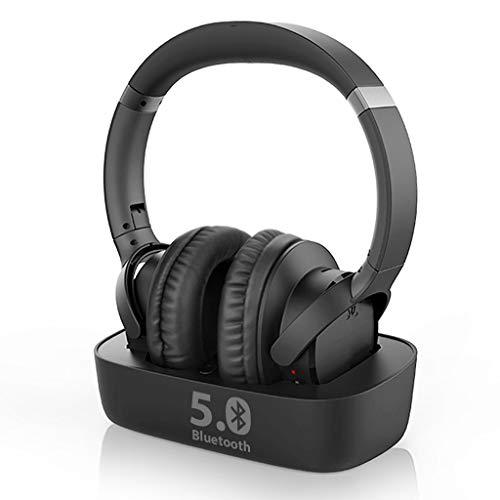 Avantree Ensemble Bluetooth 5.0 Auriculares inalámbricos para TV con transmisor Bluetooth y Base de Carga 2 en 1 Digital ÓPTICO AUX RCA,Tiempo de reproducción de 35 Horas, Enchufe juegue, Sin Retardo