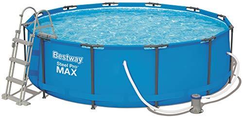 Bestway Steel Pro MAX, Frame Pool rund mit Stahlrahmen und Filterpumpe, 366x366x100 cm