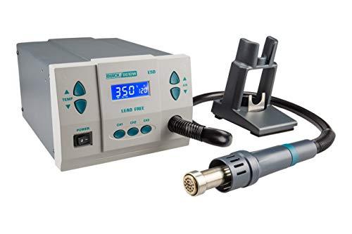 QUICK QU861DW Profi Heißluft Lötstation Set digital regelbar 1000 Watt Temperaturbereich 100 - 500 °C SMD Reworkstation / Kalibrierfunktion / Standby / Auto-Kühlsystem