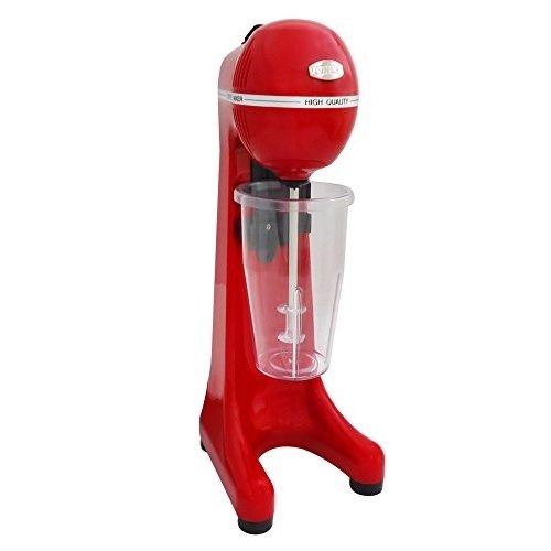 JOHNY Frappe Maker–400Watt 2SPEED kaufmännischer Drink Mixer–Elektrische Milk Shake Maker/rot/AK/2–2t-eco-r/Made in Griechenland