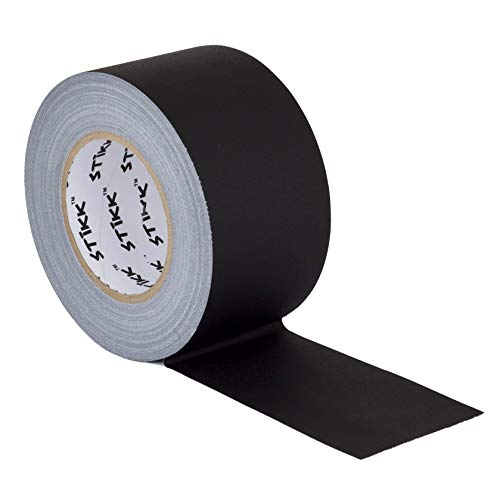 3' x 60 Yard 55 Meter Black Gaffers Tape No Residue Cloth Matte Finish