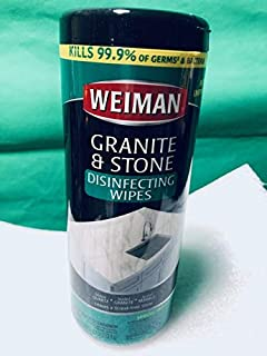 Weiman Granite Wipes Canister 30 Count