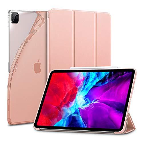 """ESR Custodia per iPad PRO 12.9"""" 2020, Cover con Retro Flessibile in TPU e Rivestimento gommato, Standby/Riattivazione Automatica, modalit脿 di Visione/Digitazione per iPad PRO 12.9"""" 2020, Oro Rosa"""
