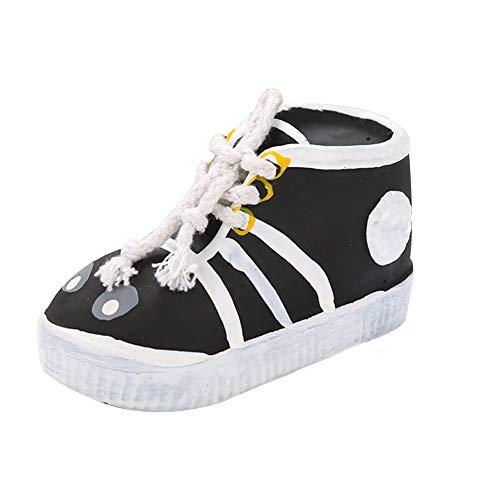 Latex Schuhe Biss Spielzeug Hundespielzeug Kreative Schuhe Spielzeug-Kauen für Tiere Biss Resistant Spielzeug Sondierungen Spielzeug für Haustiere Haustiere Interaktion Spielzeug Black 1 Pc