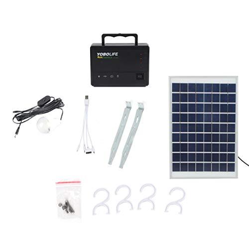 Sistema casero portátil del Cargador USB de la luz 4 del generador LED del Almacenamiento de la energía del Panel Solar ToGames-ES
