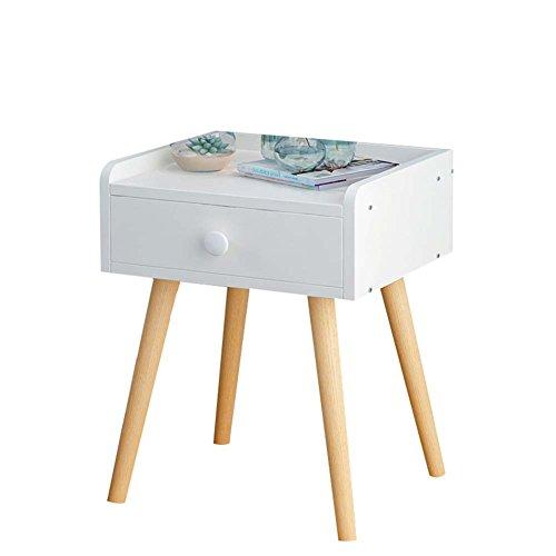 Table de chevet JCOCO Blanche à Base de Bois, avec Rangement pour tiroir et étagère, pour casier de Chambre à Coucher (Taille : 33 * 28 * 44cm)