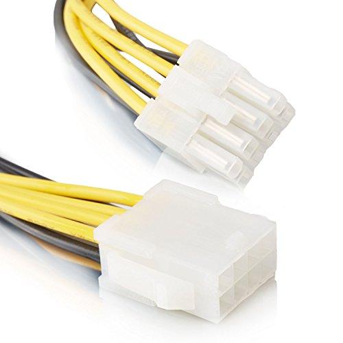 8 Pin Verlängerungskabel | Strom-Kabel | Grafikkarten Verlängerung Strom PCI Express | - MOVOJA