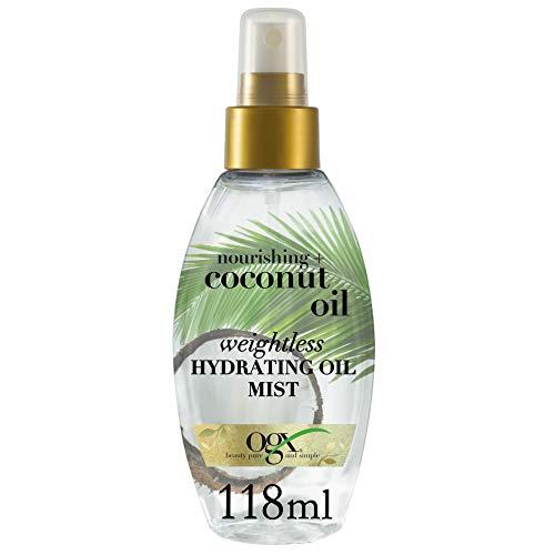 OGX, Aceite de Leche Coco Hidratante, Cabellos Secos y Sin Brillo, 118 ml