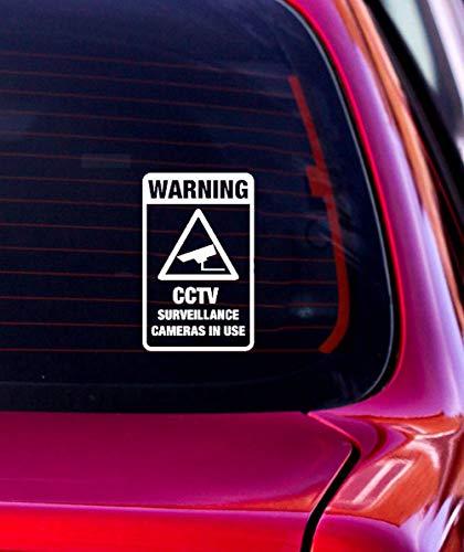 Aufkleber Eule Auto 10,3 cm x 16,5 cm Überwachungskameras im Einsatz Warnung Grafik Auto Aufkleber Dekoration für Auto Laptop Fenster Aufkleber