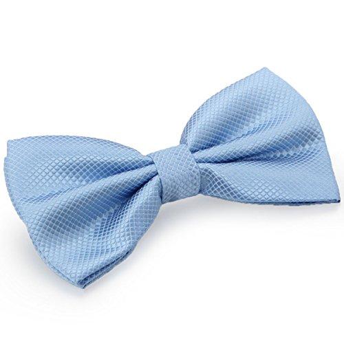 JewelryWe Herren Fliege Schleife Krawatte Binder Schlips Querbinder Anzug Hemd Bow Tie Britische Stil Kariert Verstellbar für Hochzeit Silvester Business Smoking Blau